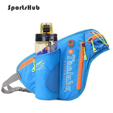 Reflective Waist Running Bags with Bottle Holder Sports Fanny Pack for Camping/Hiking/Fishing Waist Pack Bags SB0027