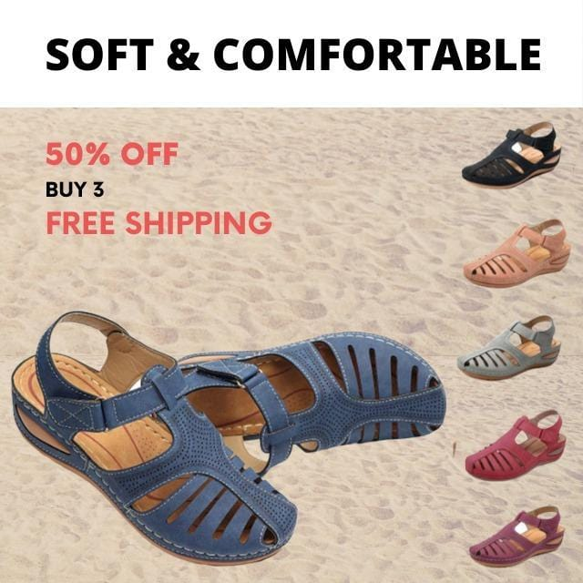 Dr. CARE - PREMIUM ORTHOPEDIC ROUND TOE SANDALS