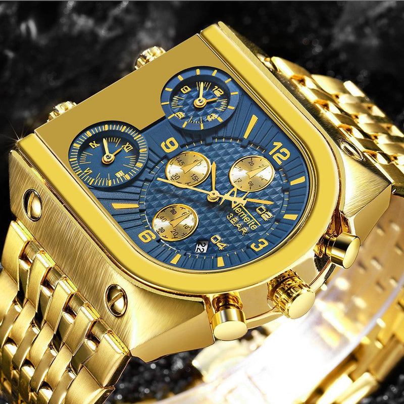 Big Square Watch For Men Luxury Quartz Watches