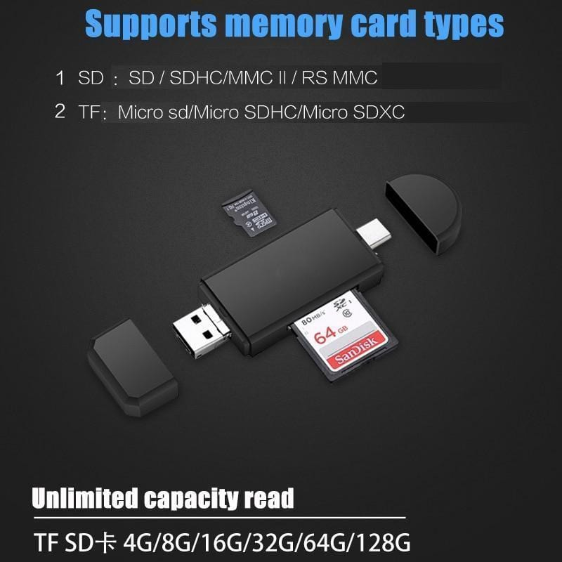 3 in 1 Mobile Card Reader(Buy 2 free shipping)