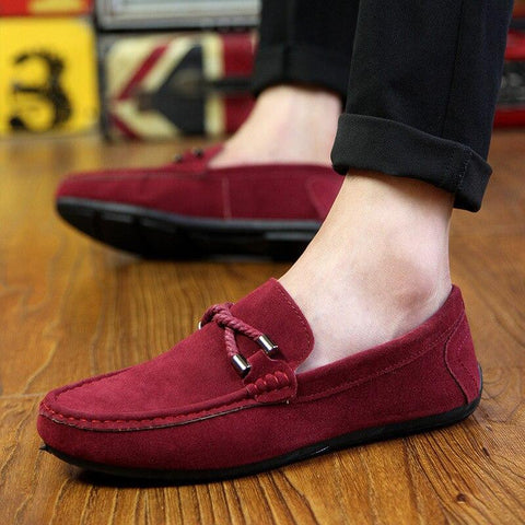Spring Summer NEW Men's Loafers Comfortable Flat Casual Shoes Men Breathable Slip-On Soft Leather Driving Shoes Moccasins