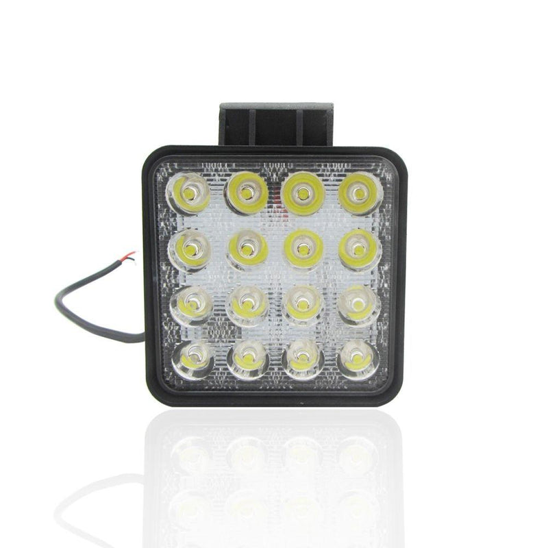 Hot 2 pcs 48W 6000k LED Spot Beam Square Work Lights Lamp Tractor SUV Truck 4WD 12V 24V 3120lum Square LED Spotlights
