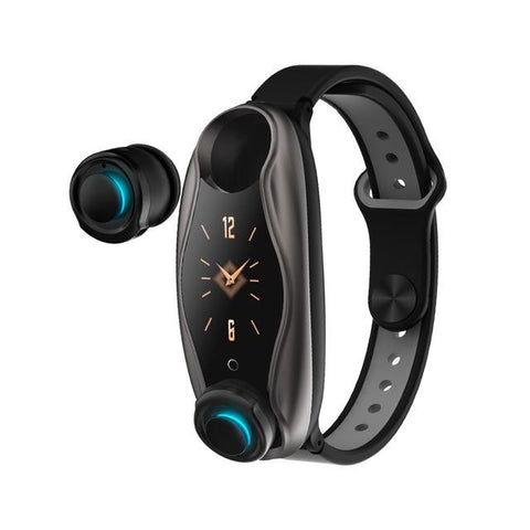 Fitness Bracelet Wireless Bluetooth Earphone 2 In 1 Bluetooth 5.0 Chip IP67 Waterproof Sport Smart Watch