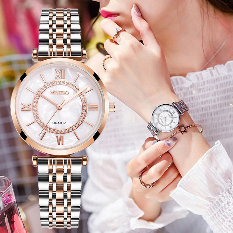Women Watches Top Brand Luxury 2020 Fashion Diamond Ladies Wristwatches