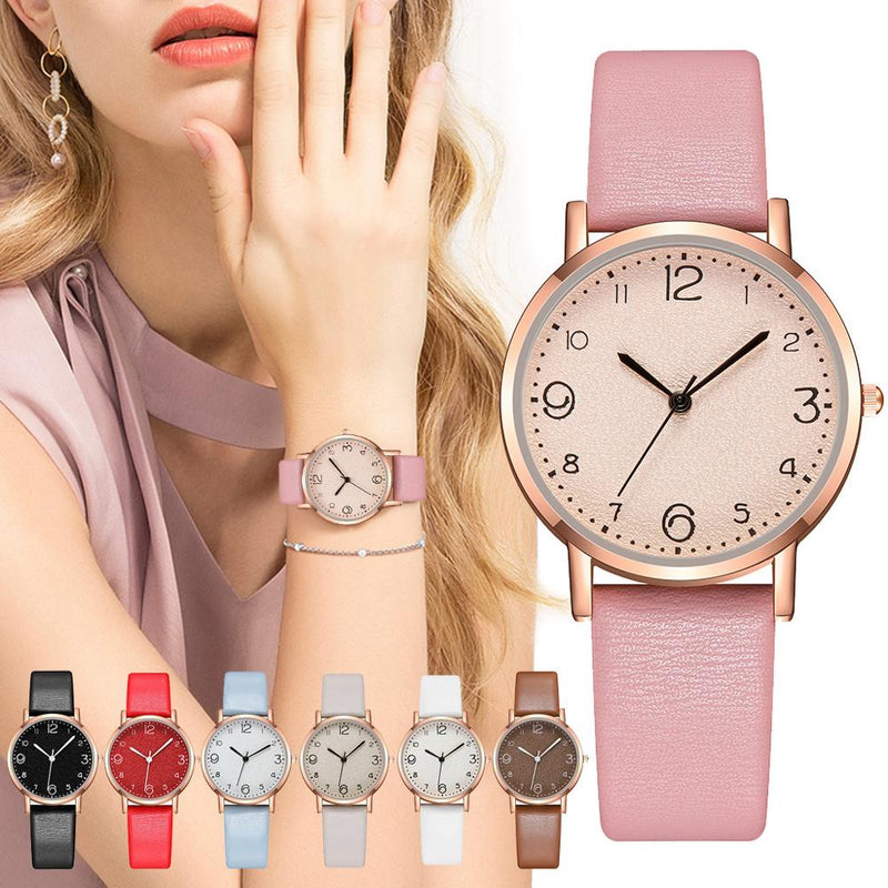 Women Watch 2020 Fashion ultra-thin Quartz Wristwatch Casual Leather Watch