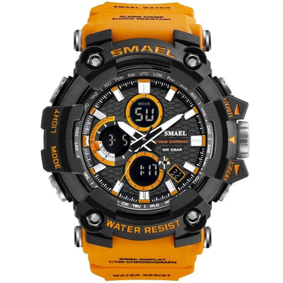 Sport Watch Dual Time Men Watches 50m WaterproofMale Clock  Military Watches