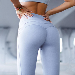 2018 Fashionable Women Yoga Gear collection - Solid Hip Push Up Stretch Yoga Pants