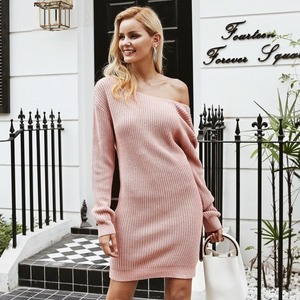 2018 Fashionable Women Dresses collection - Backless cross fashion long sleeve dress