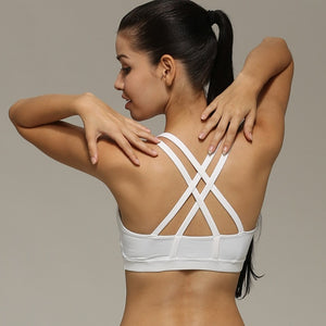 2018 Fashionable Women Yoga Gear collection - Sexy Back Cross Shockproof Yoga Bras