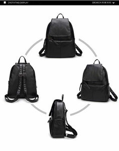 2018 Fashionable Women Backpack Vintage collection - Softback in black