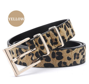 2018 Fashionable Women Belts collection - Horsehair Belts With Leopard Pattern