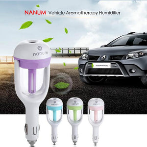 Car mini portable air aroma essential oil diffuser humidifier (12V)