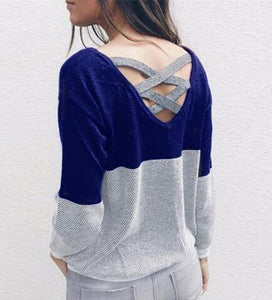 2018 Fashionable Women Sweaters collection - Reversible Backless Long Sleeve Sweaters