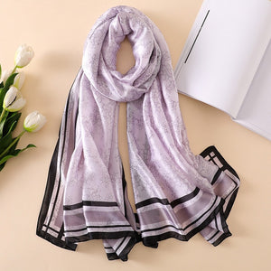 2018 Fashionable Women Scarves collection - Silk Scarves (available in multiple colors & designs)