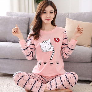 2018 Fashionable Women Sleepwear collection - ladies cute long sleeved sleepwear
