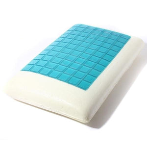 Orthopedic cooling gel pillow with slow rebound memory foam