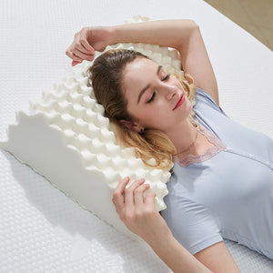 Natural latex sleeping orthopedic pillow with slow rebound memory foam
