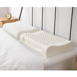 Pure natural latex sleeping orthopedic pillow with slow rebound memory foam