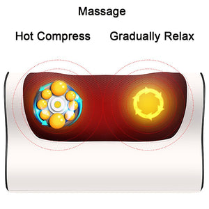 Shiatsu electric massager pillow (Infrared Heating)