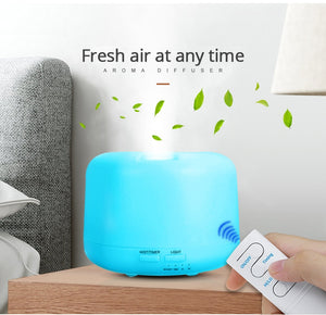 Electric ultrasonic air aroma essential oil diffuser humidifier (300ML - 7 LED color options - USB charging - remote control)