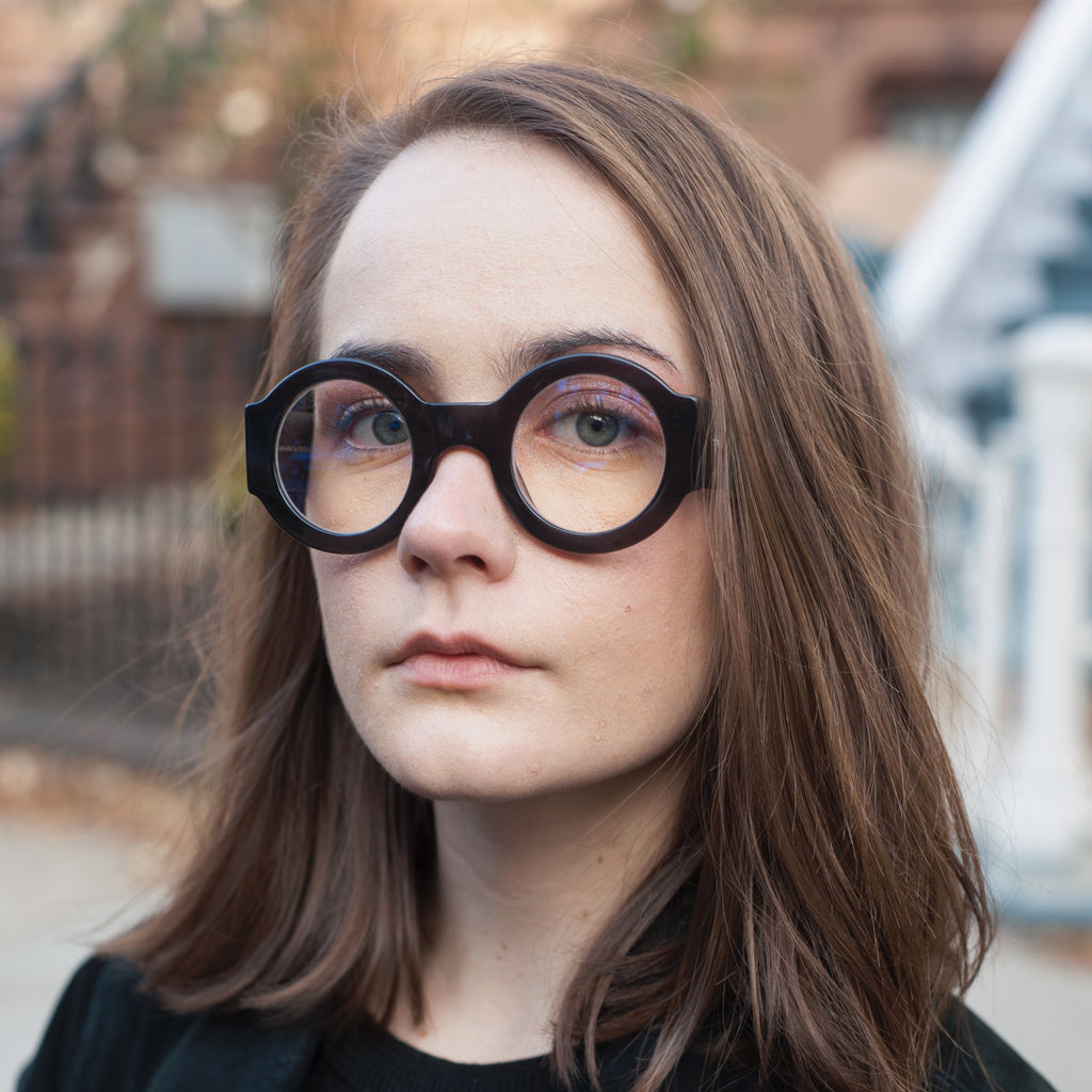 Soft Rounded Black Supernormal Eyewear