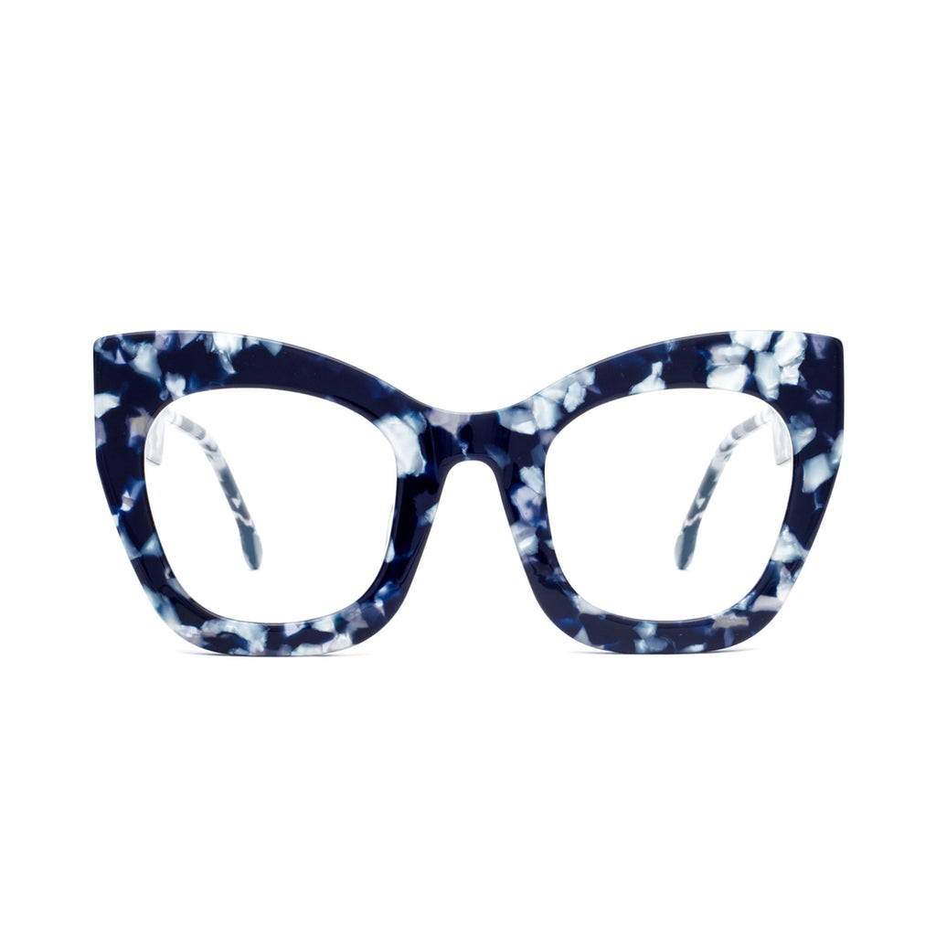 "Blue Marble Oversized Computer Glasses  ""AMBITIOUS"""