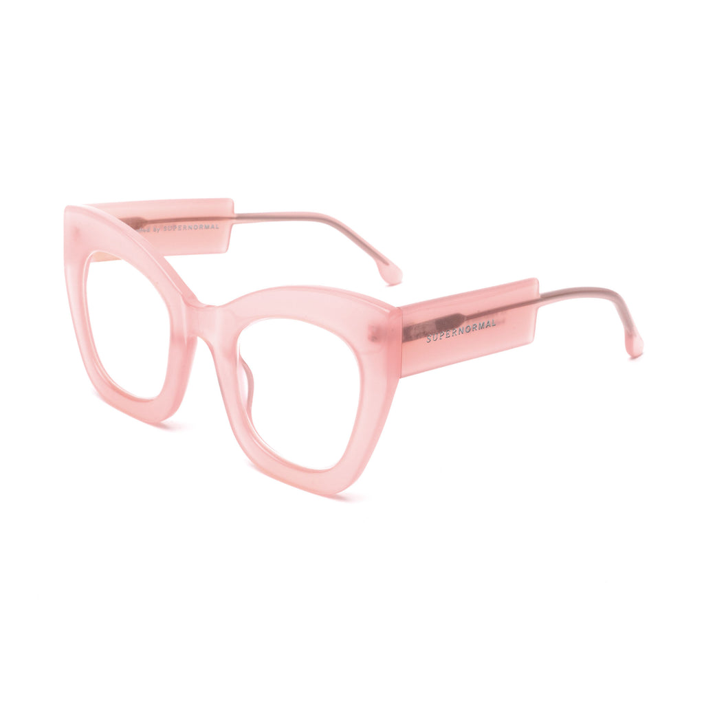 "Pink Oversized Computer Glasses ""AMBITIOUS"""