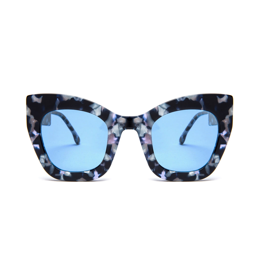 "Blue Marble Oversized Sunglasses  ""AMBITIOUS"""