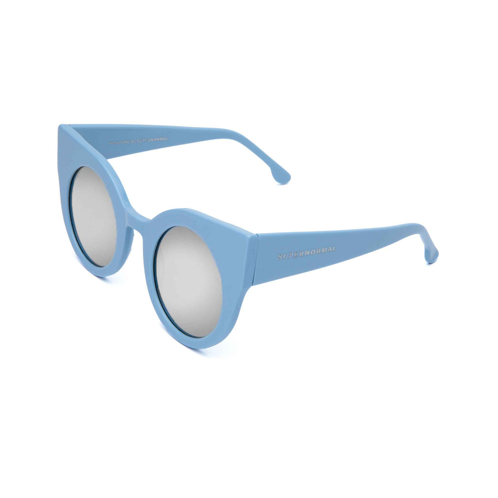 CURIOUS Baby Blue frame + Mirrored lenses