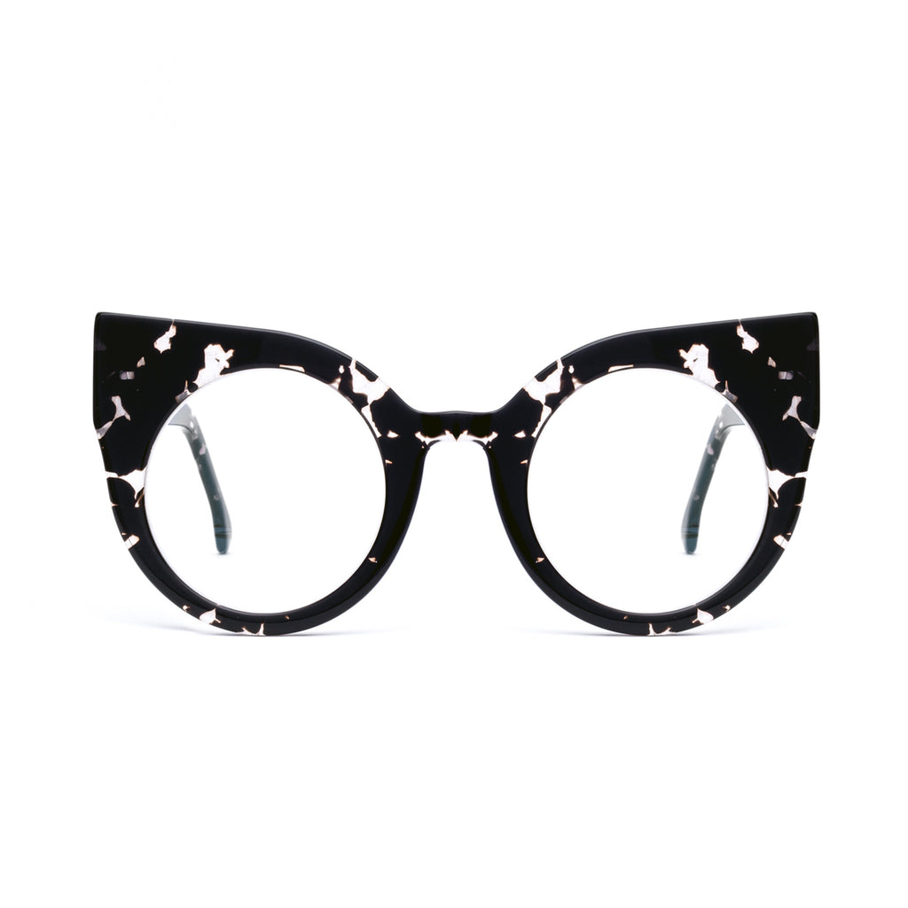 CURIOUS Patterned Black Computer Glasses