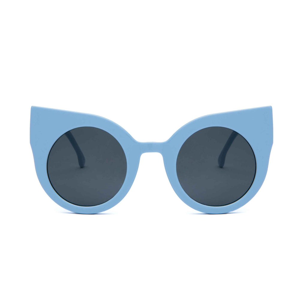 CURIOUS Baby Blue frame + Grey lenses