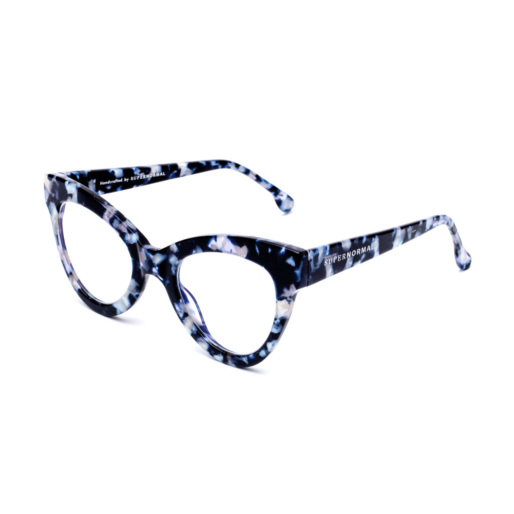 "Blue Marble Cat-Eye Computer Glasses ""MAGNETIC"""