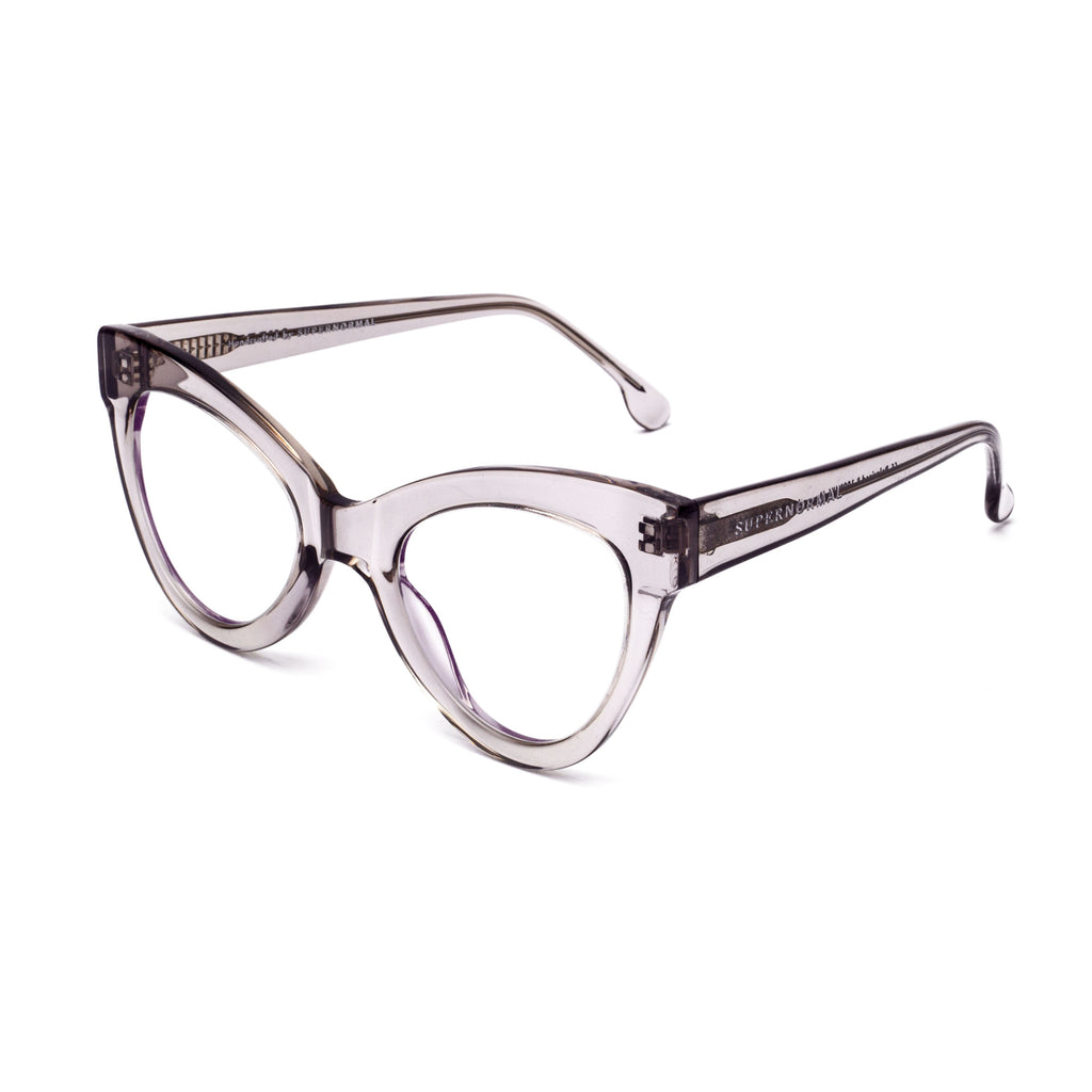 "Grey Cat-Eye Computer Glasses ""MAGNETIC"""