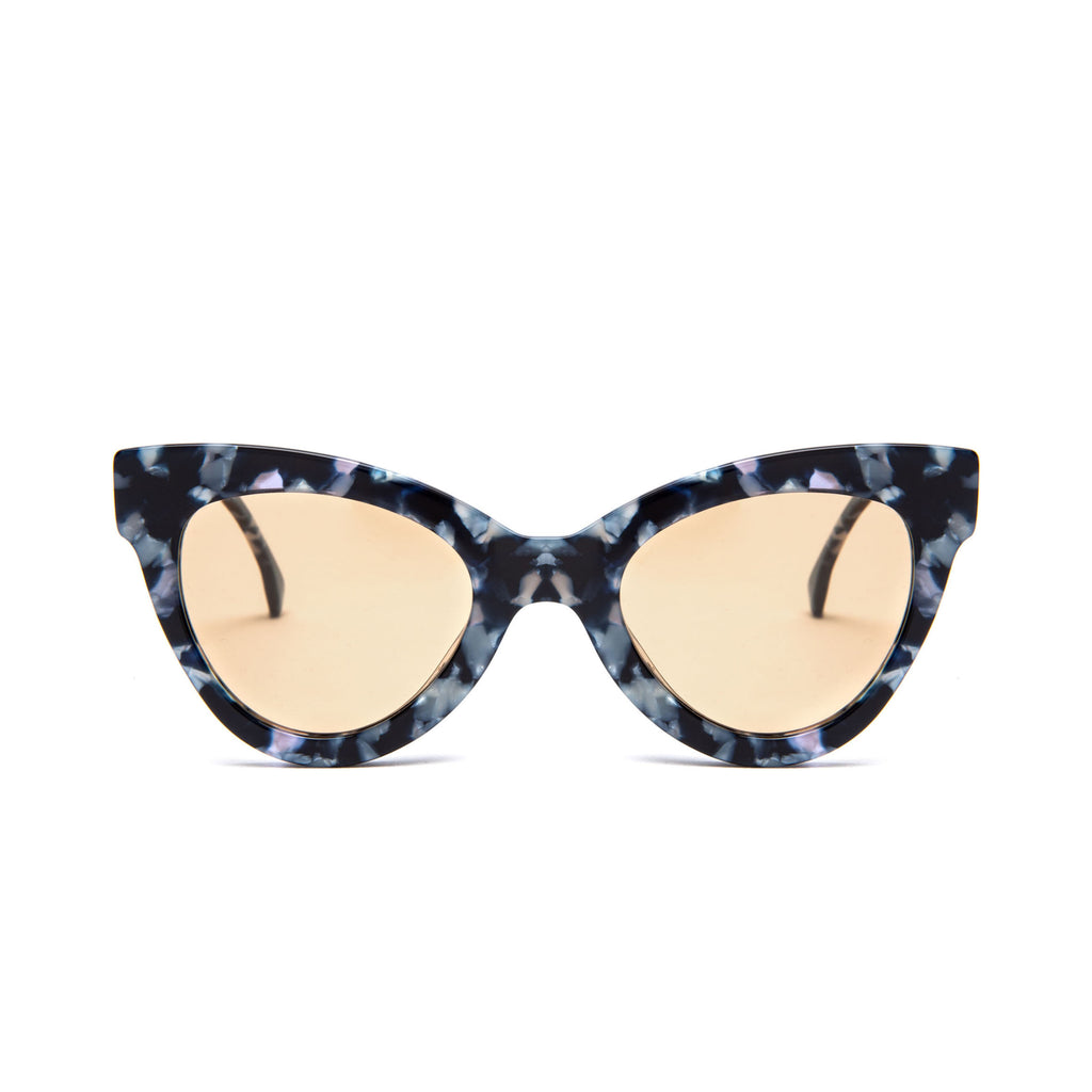 "Blue Marble Cat-Eye Sunglasses ""MAGNETIC"""