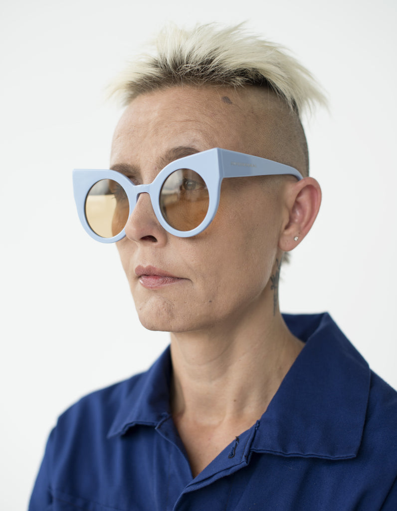 Oversized Cat Eye Light Blue Supernormal Sunglasses  - supernormal