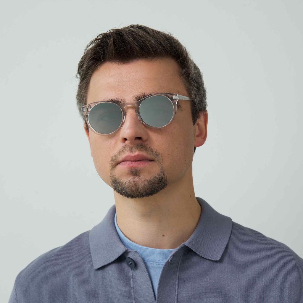 SHARP Transparent frame + Mirrored lenses
