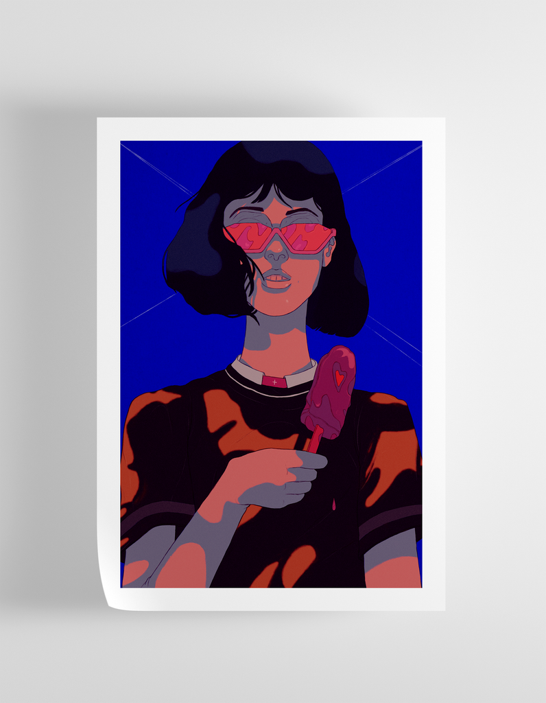 """Rebellious"" Art Print Print - supernormal"