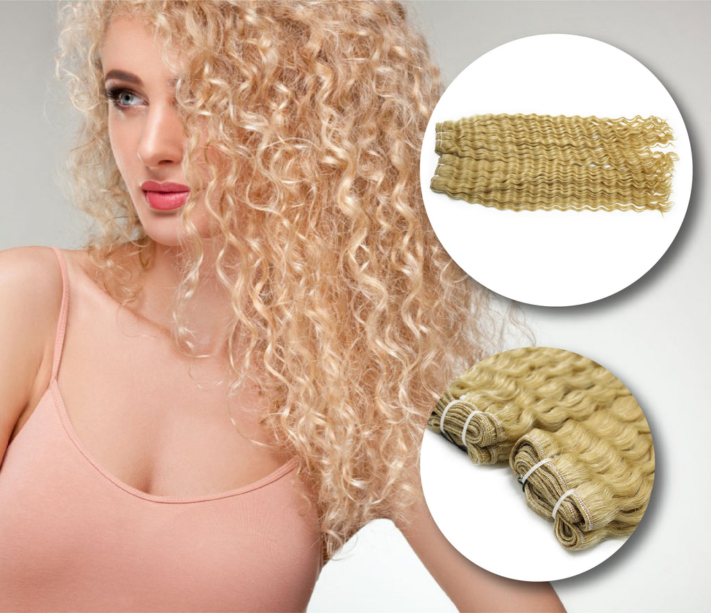 Looking for the best blonde deep curly weave hair extensions