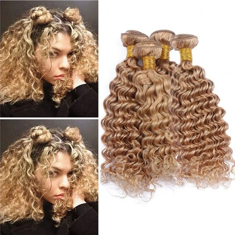 blonde deep curls