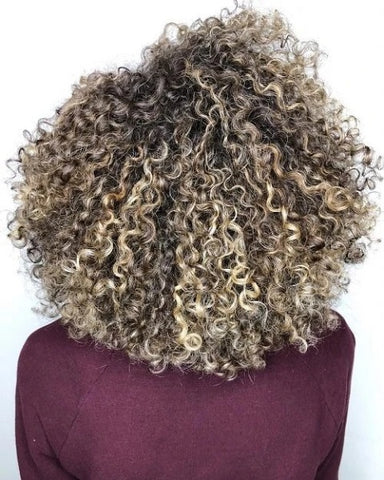 ash blonde deep curly weave hairstyle