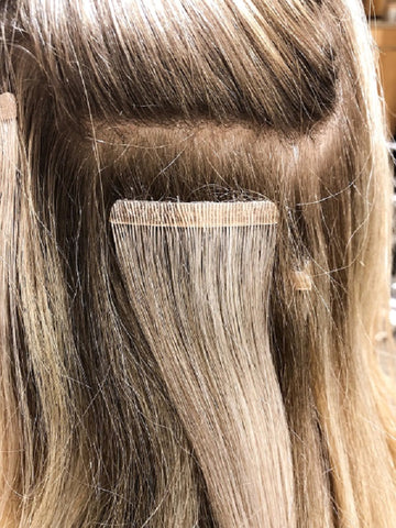 Apostore's tape hair extensions for fine hair