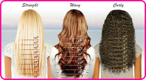 Weave hair: Textures and lengths