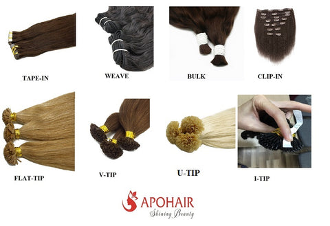 types of 24 inch hair extensions