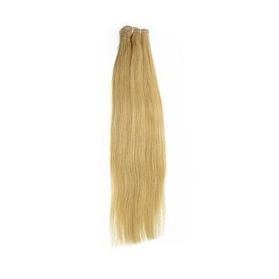 Weft straight blonde hair extensions VS1