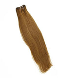 Weft straight light brown hair extensions VS1