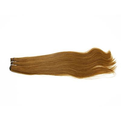 Weft straight light brown hair extensions VS2