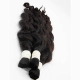 Bulk body wavy black hair VD1