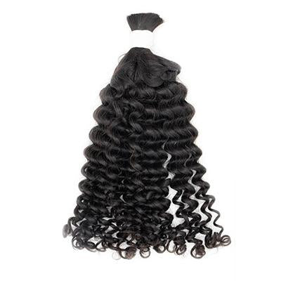 Bulk curly black hair extensions VS1