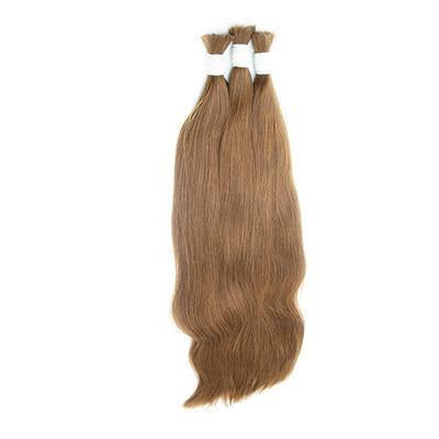 Bulk straight light brown hair extension VS1