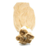 Bulk straight blonde color hair extensions VD2